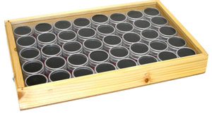 40 Alumin Gem Jars In Wood Box