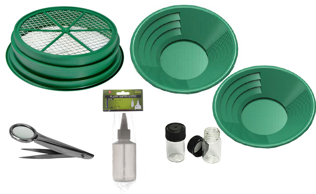 Gold Pan Kit - 7 pce - Green