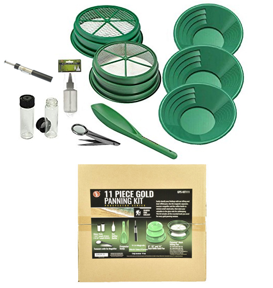 Gold Pan Kit - 11pce - Green