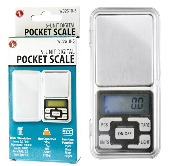 Digital Pocket Scale - 500g x .01g
