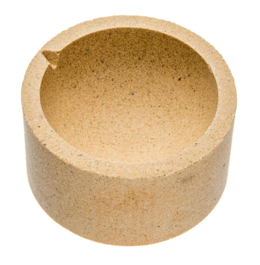 "Alumina 3"" Ceramic Melding Pot"