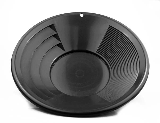 "Gold Pan - 12"" - Dual Riffle - Black"